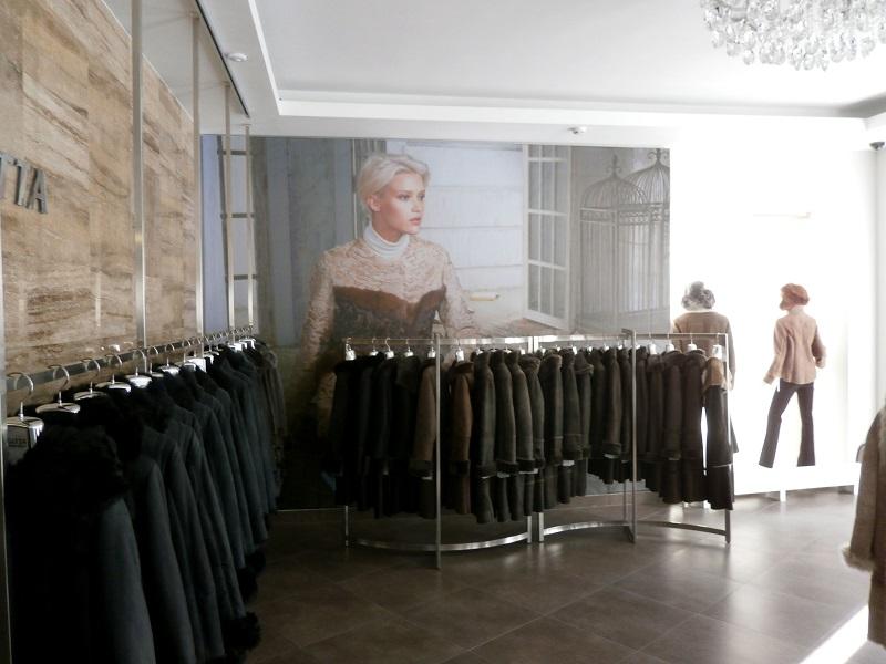 Оформление торгового зала для магазина Sagitta