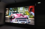 Видеоэкран для выставочного центра Retro cars